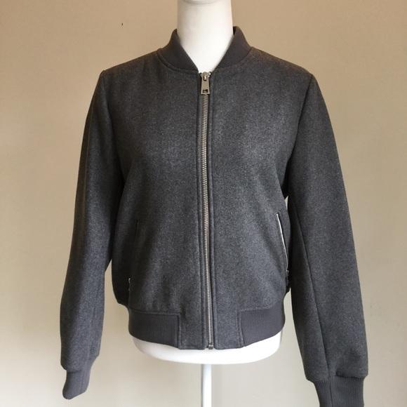 Levi's Jackets & Blazers - Levi's gray wool blend rib knit bomber jacket